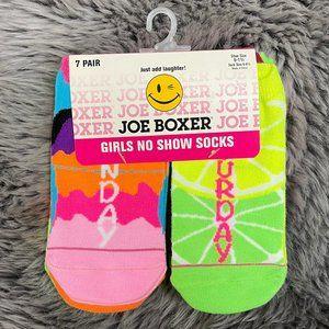 Joe Boxer | Girl's No Show Socks | 7 Pack